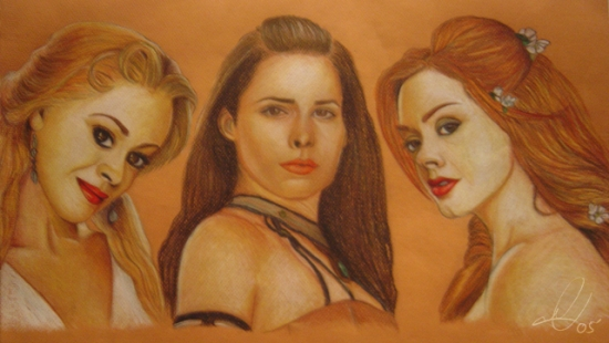 Alyssa Milano, Holly Marie Combs, Rose McGowan by LittleSinner